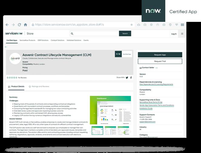 Aavenir self-service IT Contracts Management for IT Asset Management