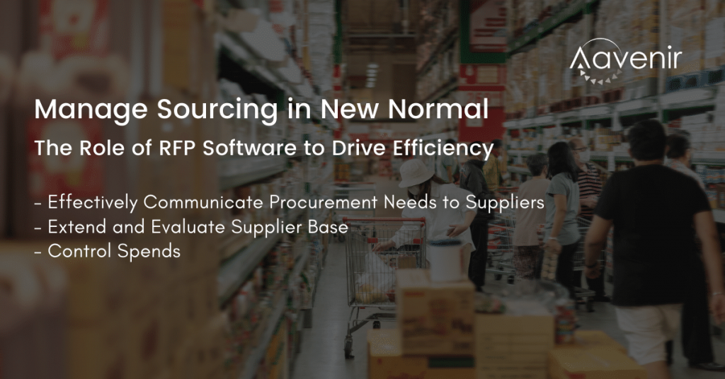 Managing sourcing in new normal with RFP management software