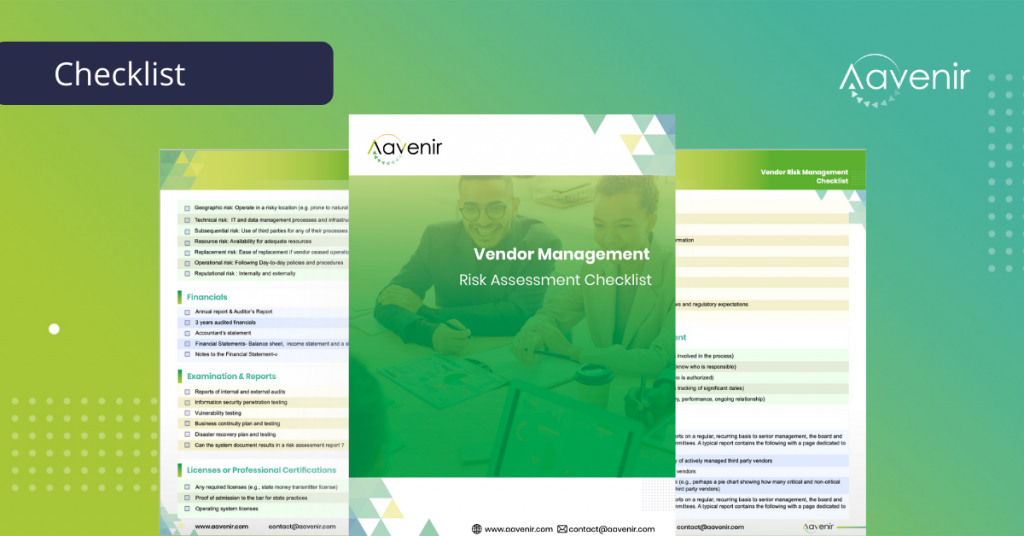Vendor_Management_Risk_Assessment_Checklist_Aavenir