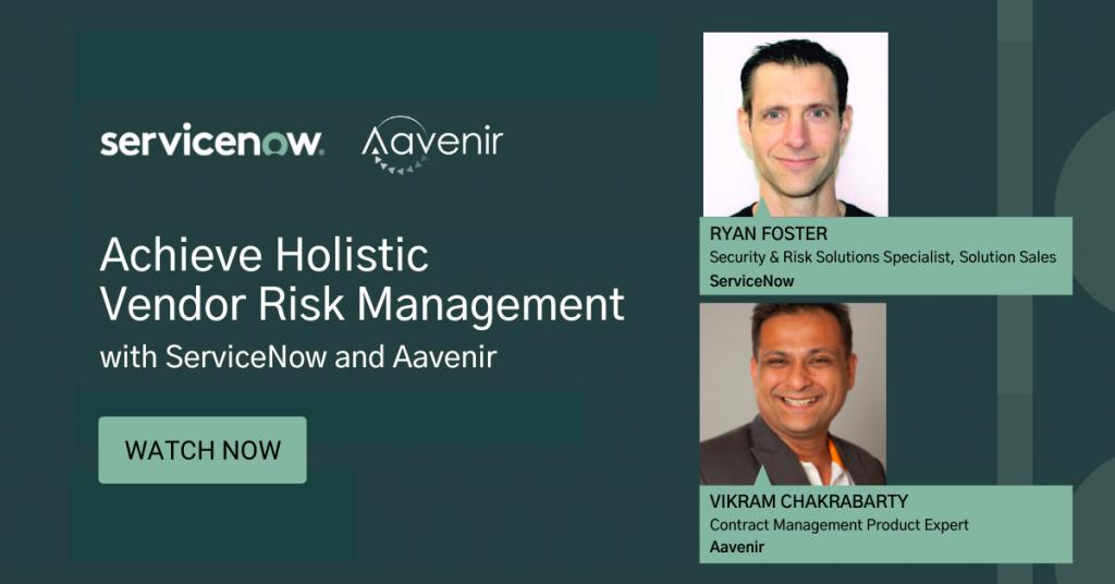 servicenow_aavenir_achieveholistic_vendorrisk_management
